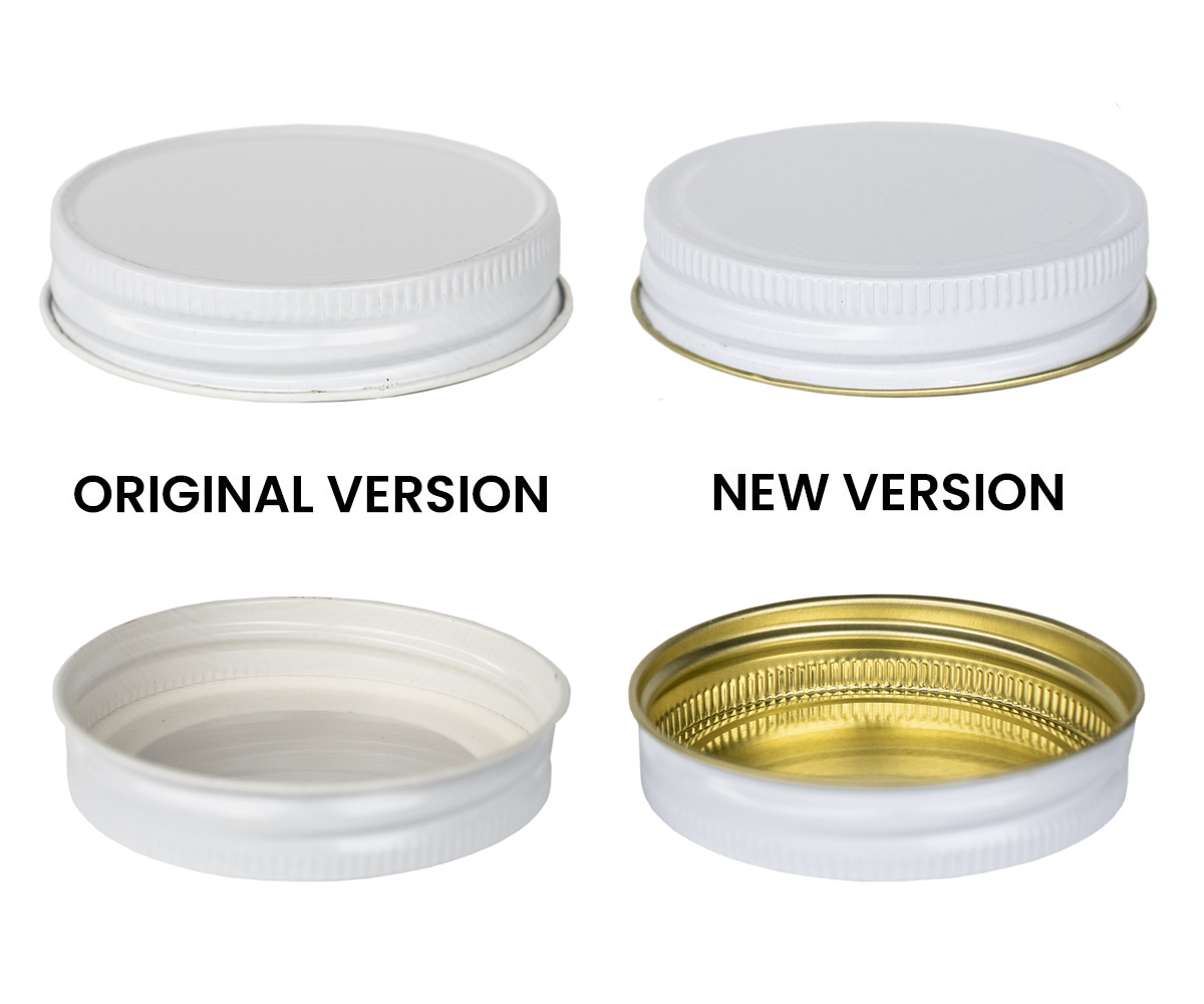70G White Lid comparison chart